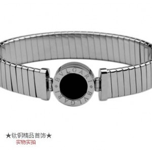 Bvlgari Tubogas in 18kt White Gold with Black Onyx