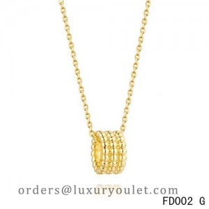 Van Cleef Arpels Yellow Gold Perlee Pendant 3 Rows