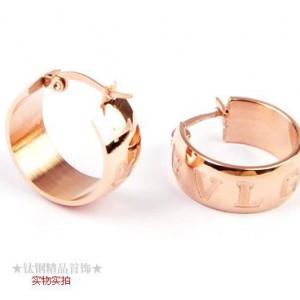 Bvlgari MONOLOGO Earrings in 18kt Pink Gold