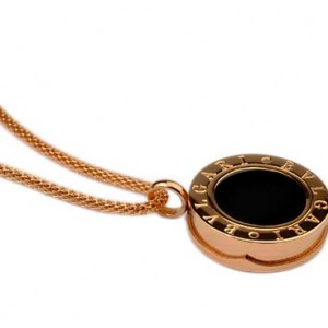 Bvlgari Necklace in 18kt Pink Gold with Black Mother of Pearl