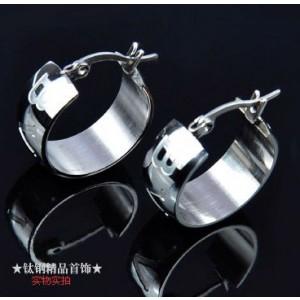 Bvlgari MONOLOGO Earrings in 18kt White Gold