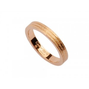 Cartier Wedding Band Ring in 18kt Pink Gold with Pave Corundum