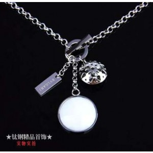Bvlgari Charms Necklace in 18kt White Gold with White Mother of