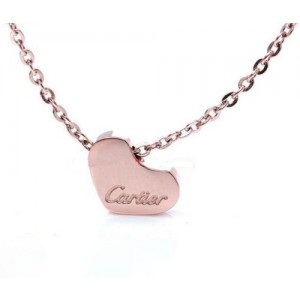 Cartier Heart Charm Necklace in 18kt Pink Gold