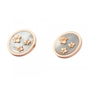 Cartier Caresse D'Orchidees Earrings in 18kt Pink Gold with Grey Mother of Pearl