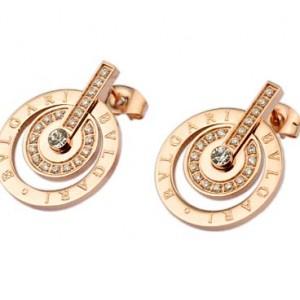 Bvlgari Stud Earrings in 18kt Pink Gold