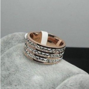 Cartier 3 Rod Wedding Band Ring in Pink Gold With Pave Diamonds