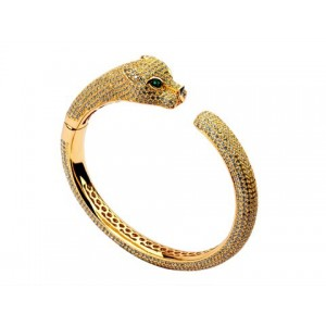 Panthere De Cartier Bracelet in Yellow Gold with Diamonds