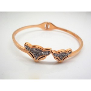 Cartier Double Fox Bracelet in 18kt Pink Gold with Paved-Diamonds