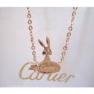 Cartier Rabbit & Radish Necklace in 18kt Pink Gold