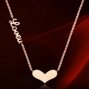 """cartier """"LOVE"""" Heart Necklace in 18K Pink Gold"""