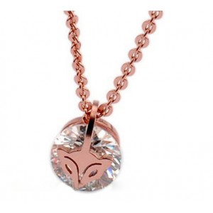Cartier Little Fox Necklace in Pink Gold With Diamond