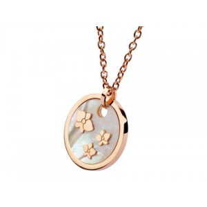 Cartier Caresse D'Orchidees Necklace in 18kt Pink Gold with Grey Mother of Pearl