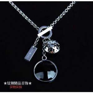 Bvlgari Charms Necklace in 18kt White Gold with Black Mother of