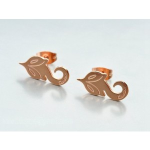 Cartier Little Fox Stud Earrings in 18K Pink Gold