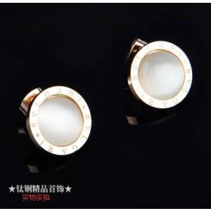 Bvlgari Opal Stud Earrings in 18kt Pink Gold