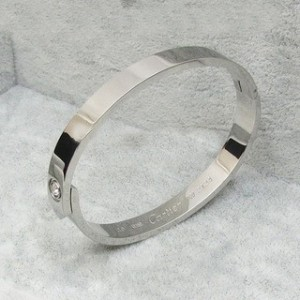 Cartier LOVE Bracelet in Platinum with a Diamond